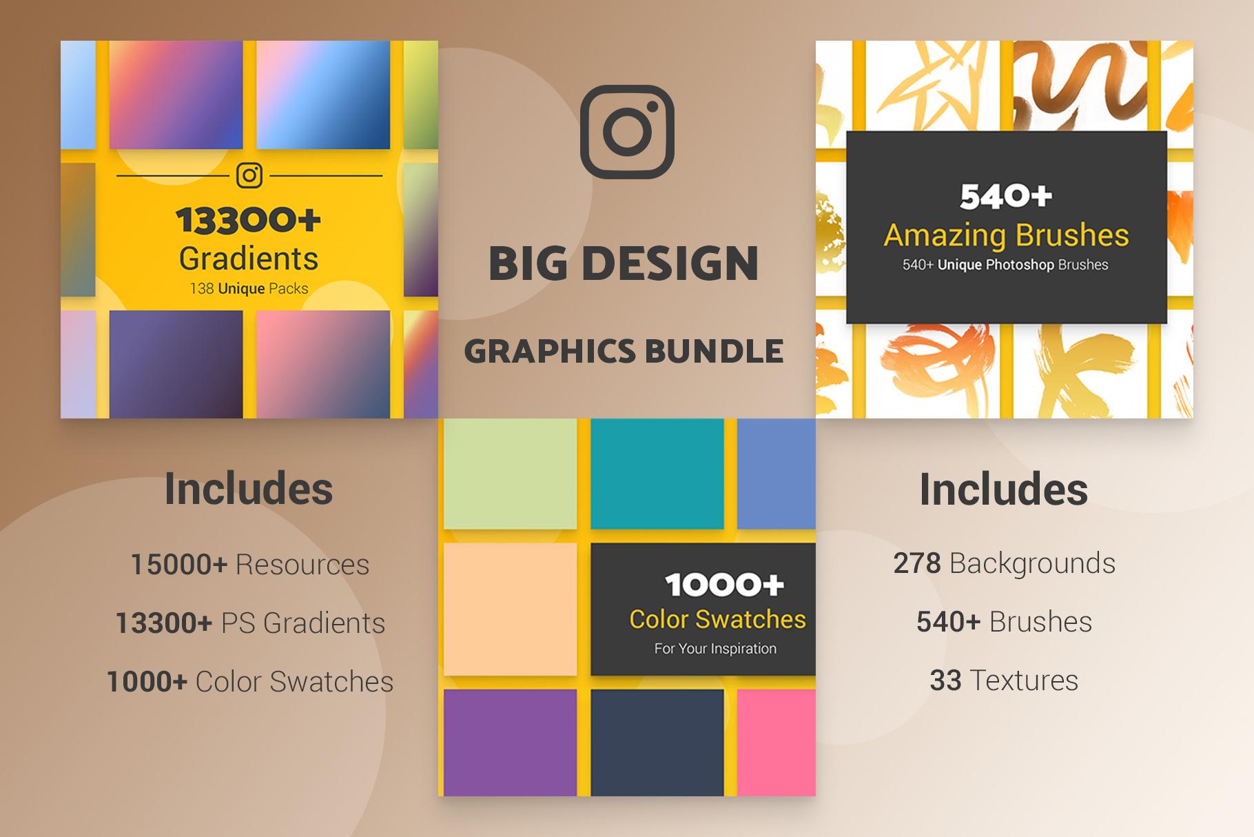 Big Design Graphics Bundle 15000 Resources example image 2