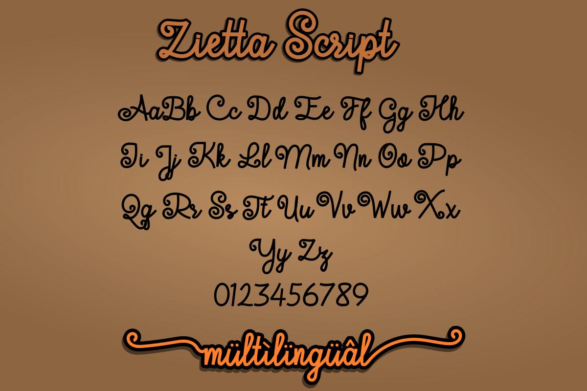 Zietta - Font Duo example image 8