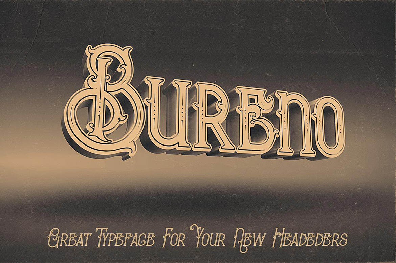 Bureno - Decorative Font example image 5