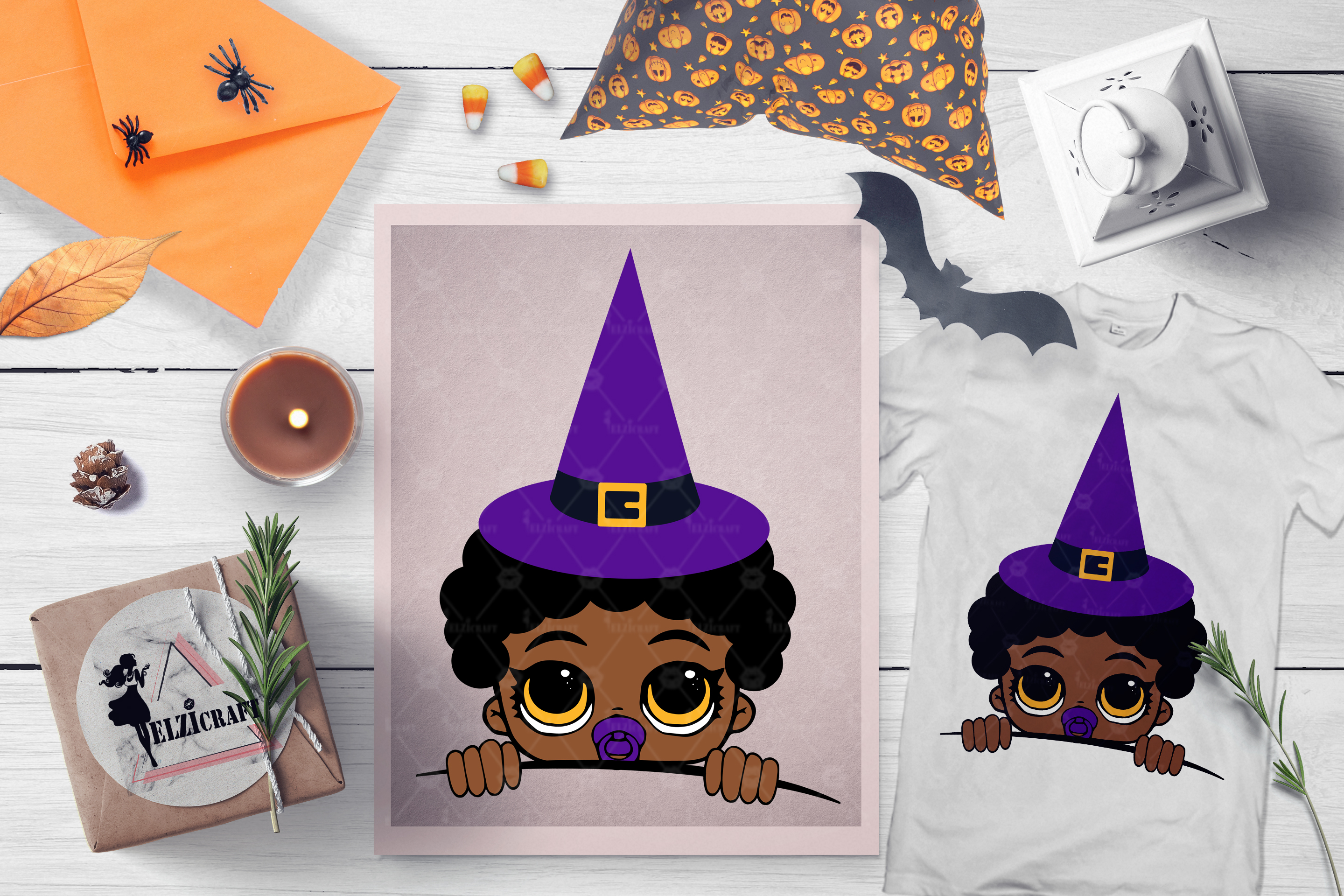 BUNDLE Halloween Afro Boys SVG Cut Files example image 2