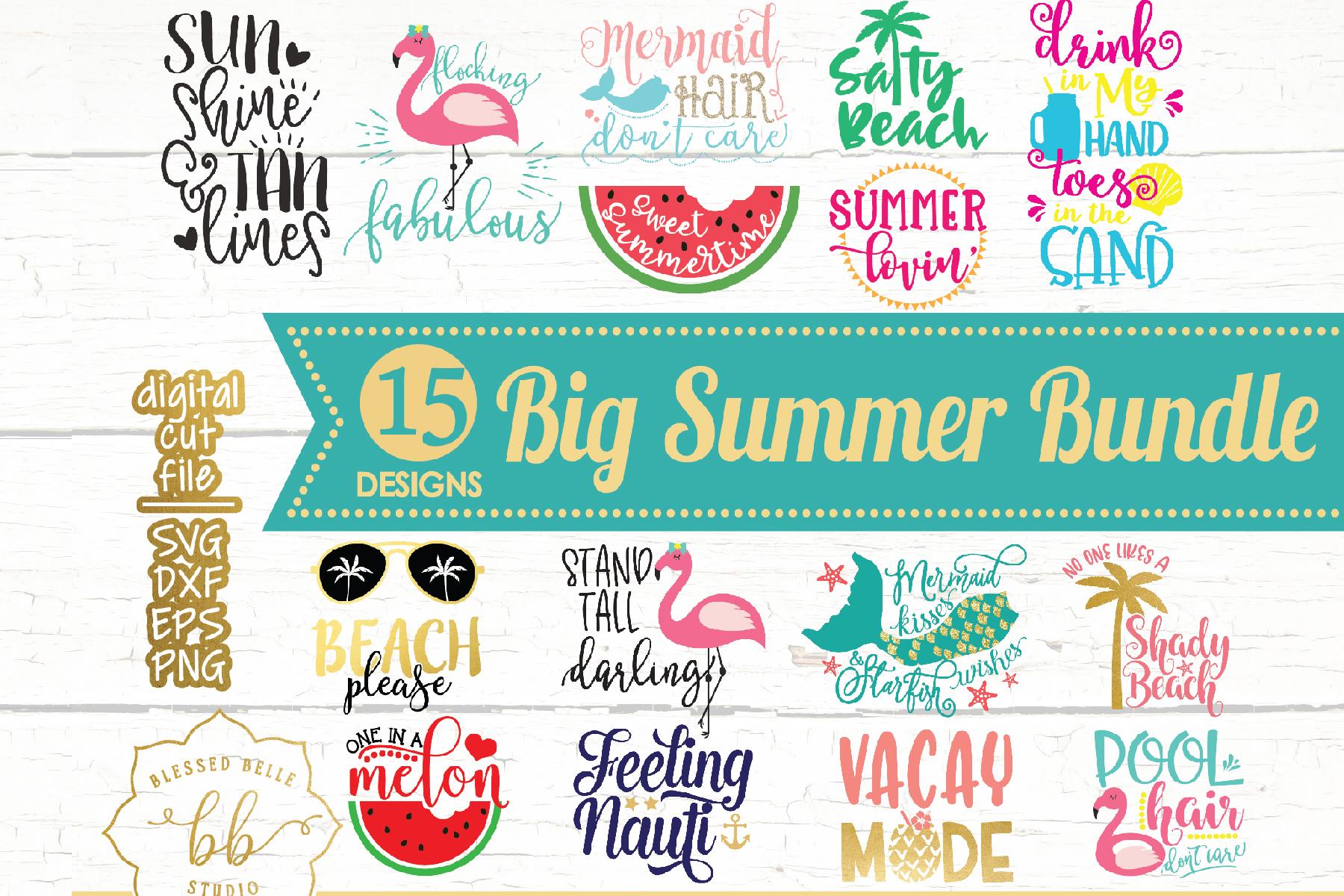 Summer SVG / Summer Bundle SVG / SVG DXF EPS PNG example image 1