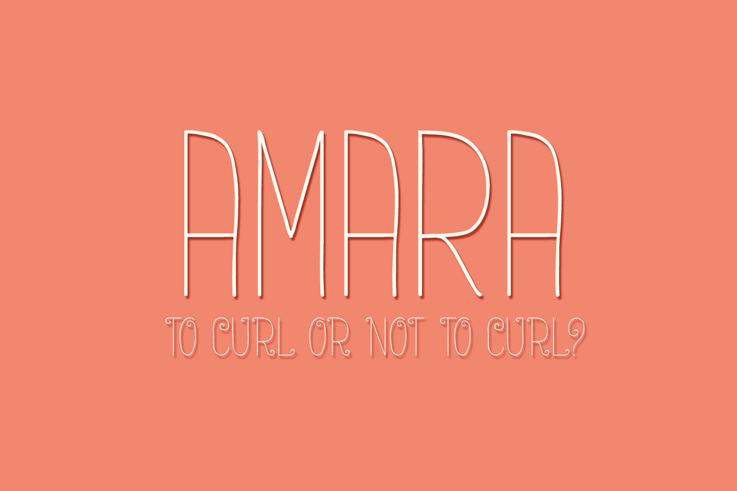 Amara - A Delicate and Curly Font example image 2