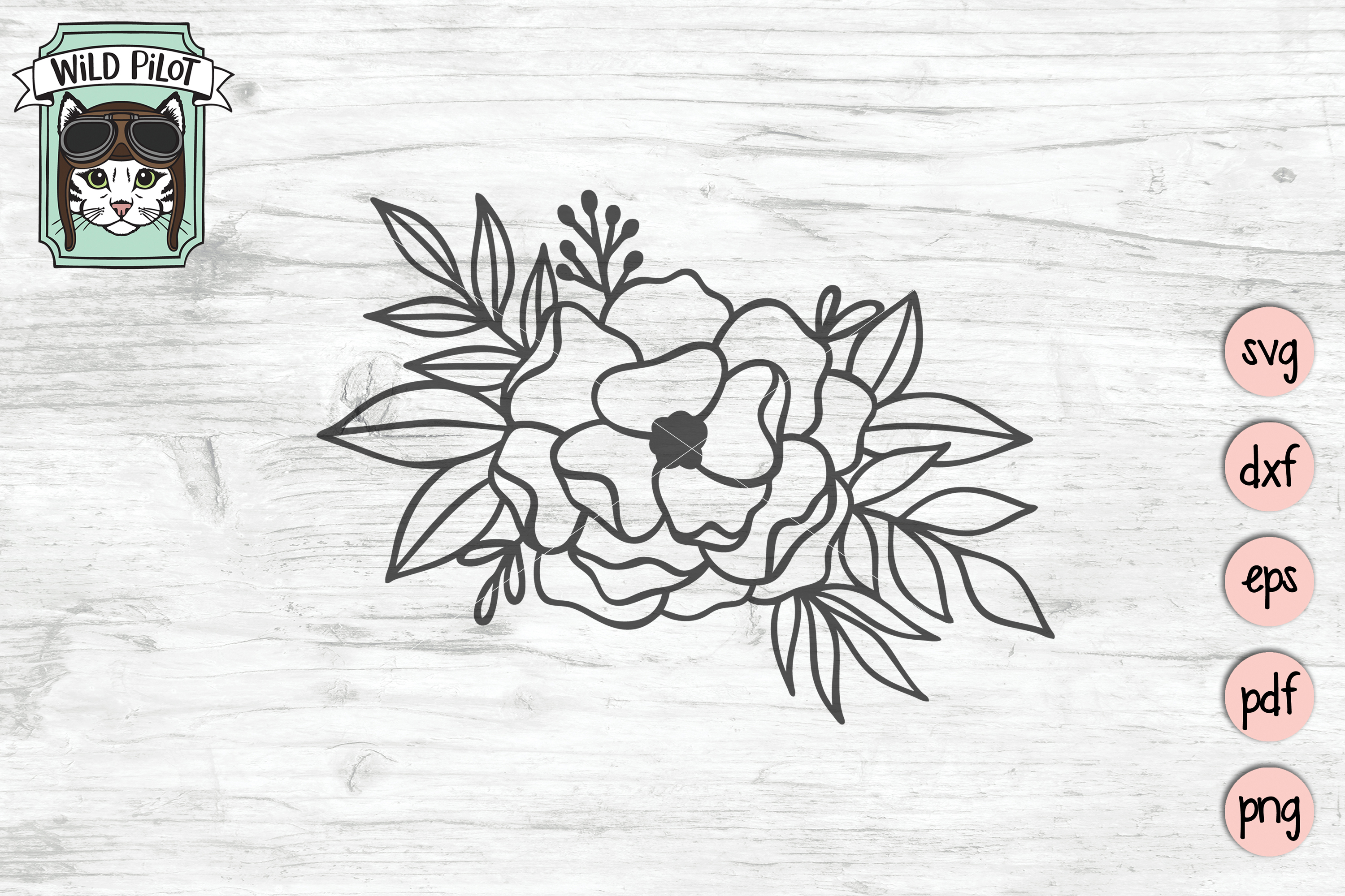 Flowers SVG file, Flower Border, Floral cut file, Roses example image 3