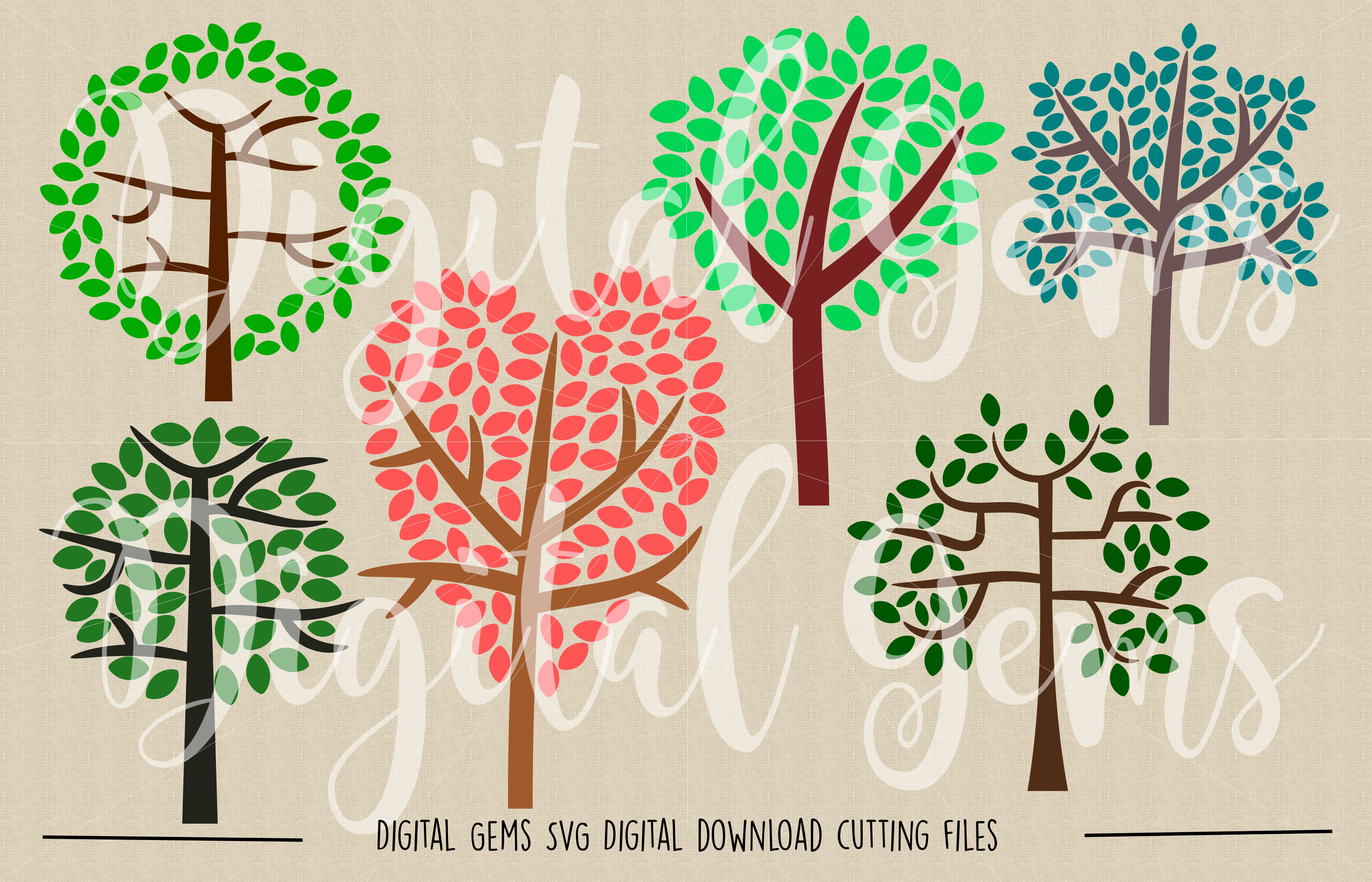 Tree SVG / DXF / EPS / PNG files example image 2