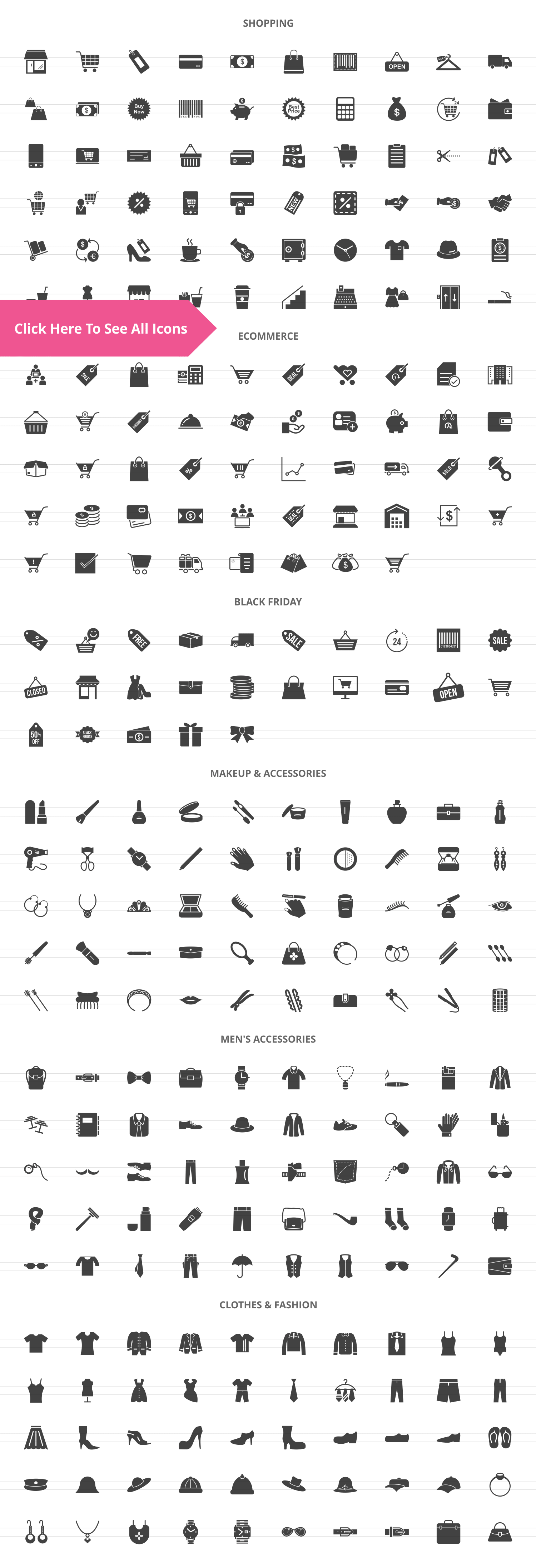 283 Shopping Glyph Icons example image 2