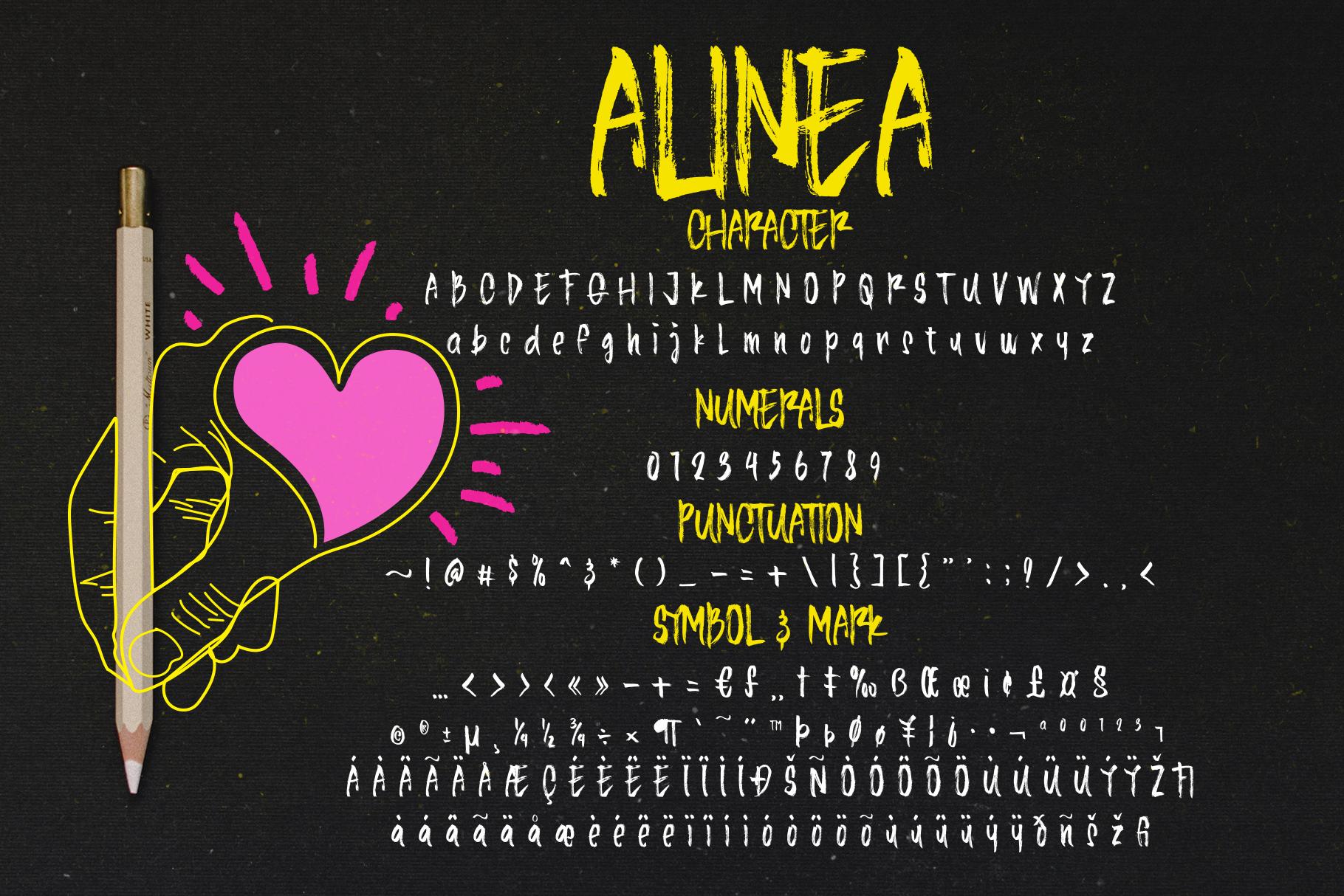 Alinea Typeface example image 4