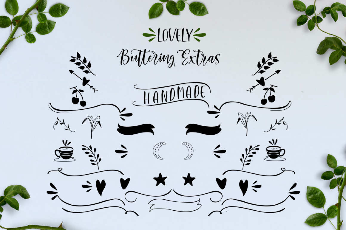 Lovely Buttering Font Duo & Extras example image 7