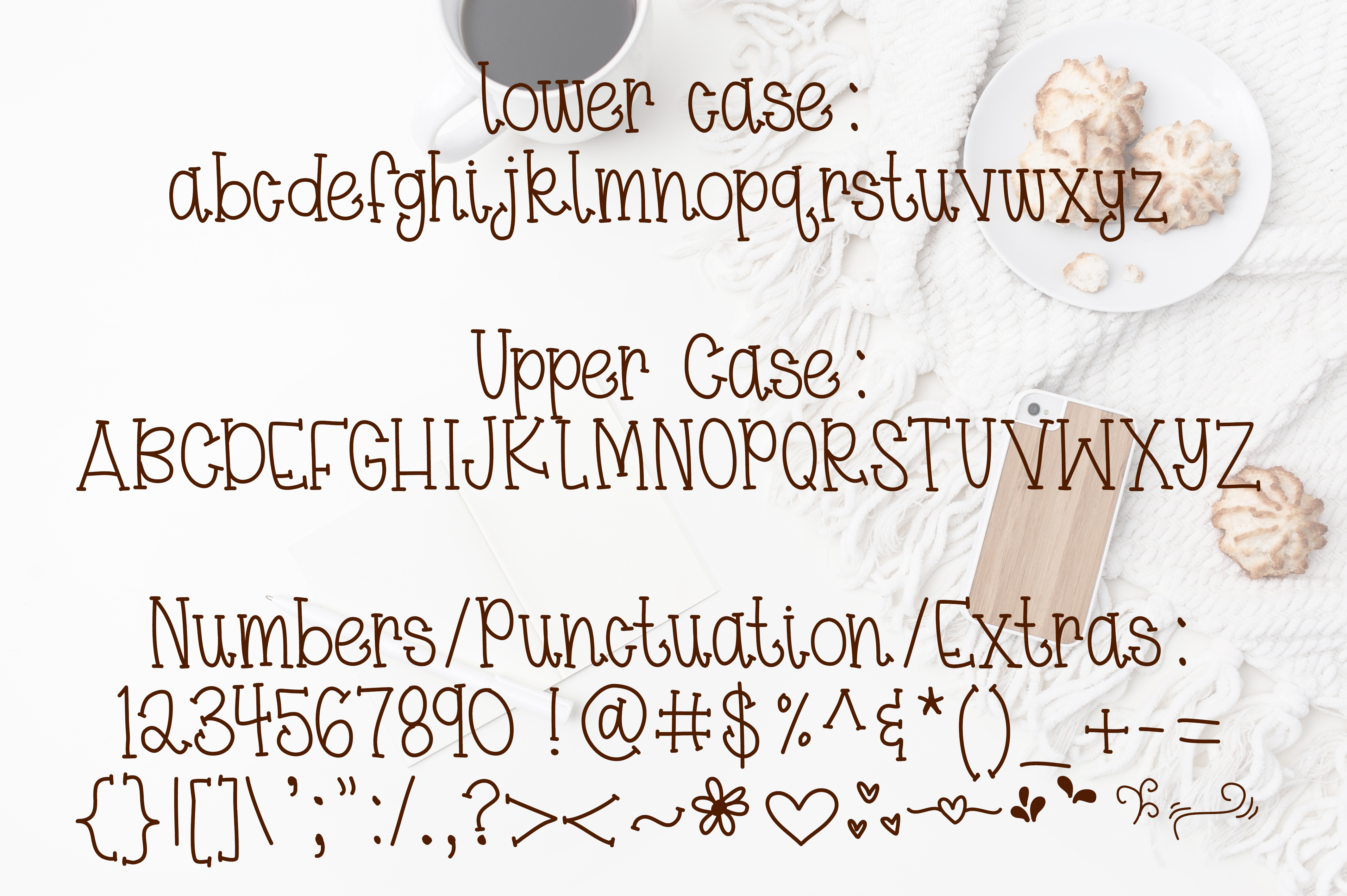 Coffee & Macaroons - Hand lettered Font example image 5
