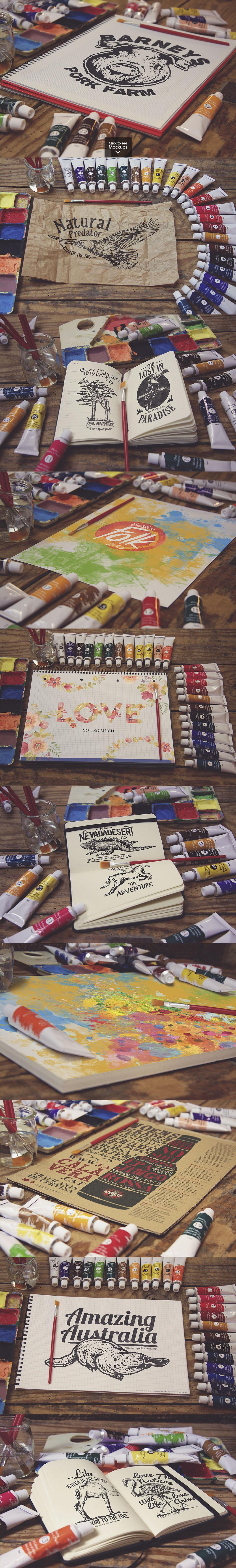 50 Art Mockups Bundle -60OFF example image 5