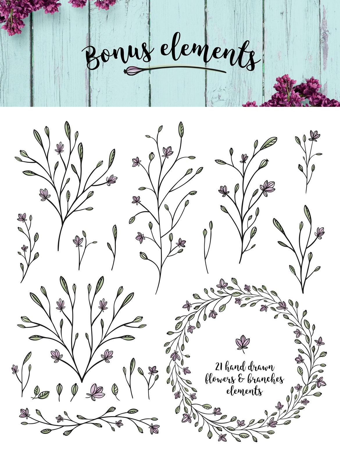 Nature & floral logos + BONUS example image 6
