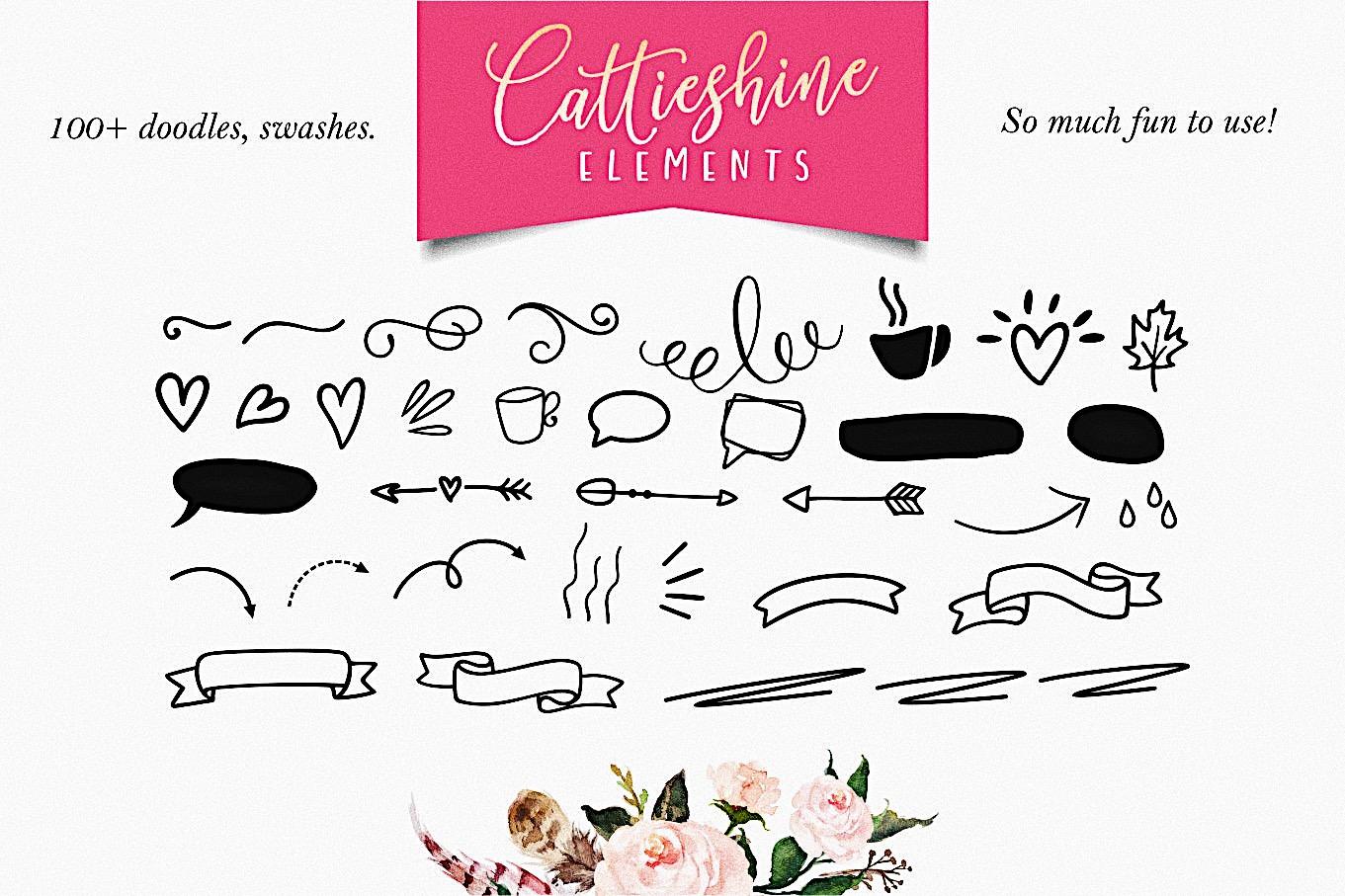 Cattieshine - Font Duo example image 12