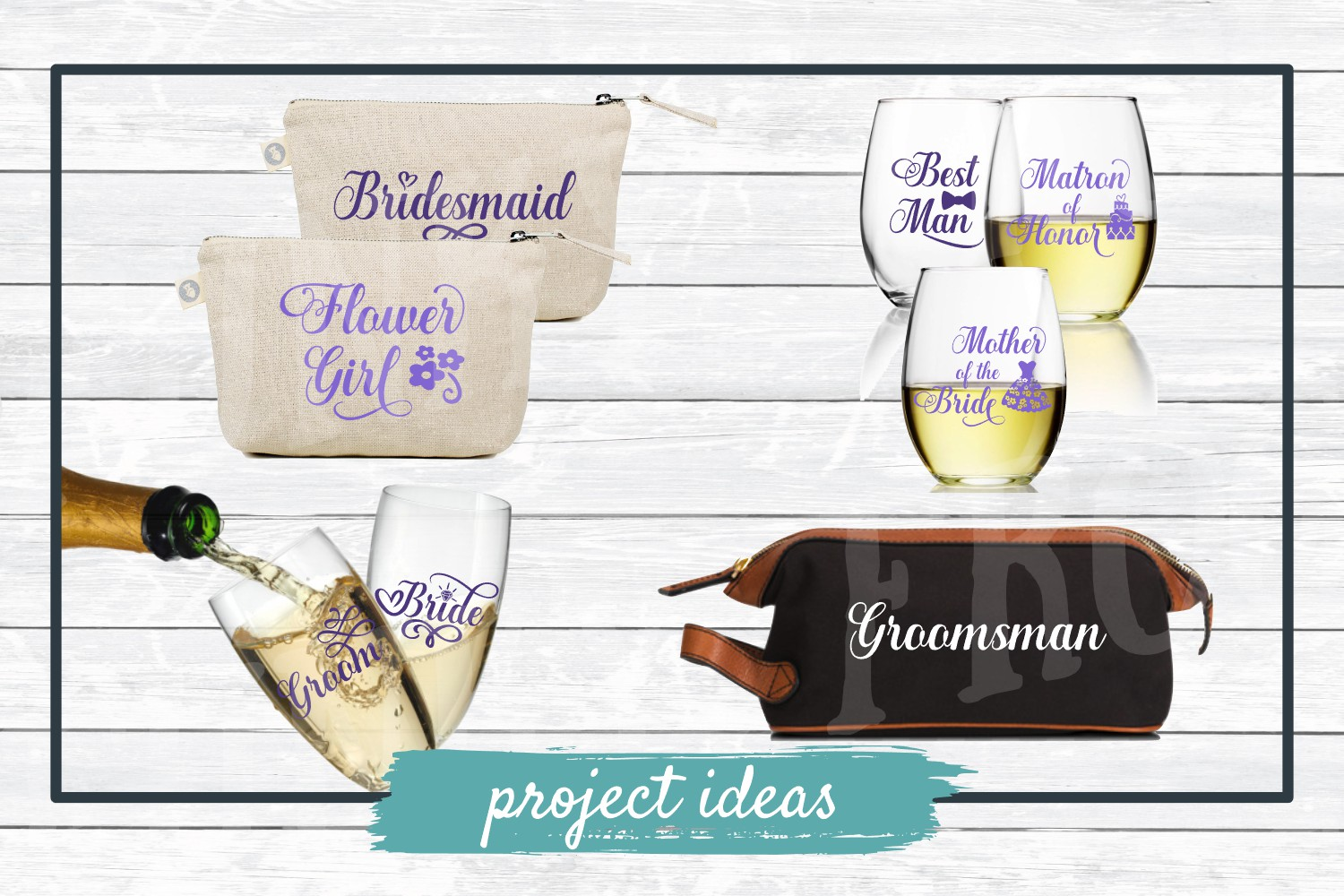 Wedding Party Design Bundle - SVG Cut Files for Crafters example image 6