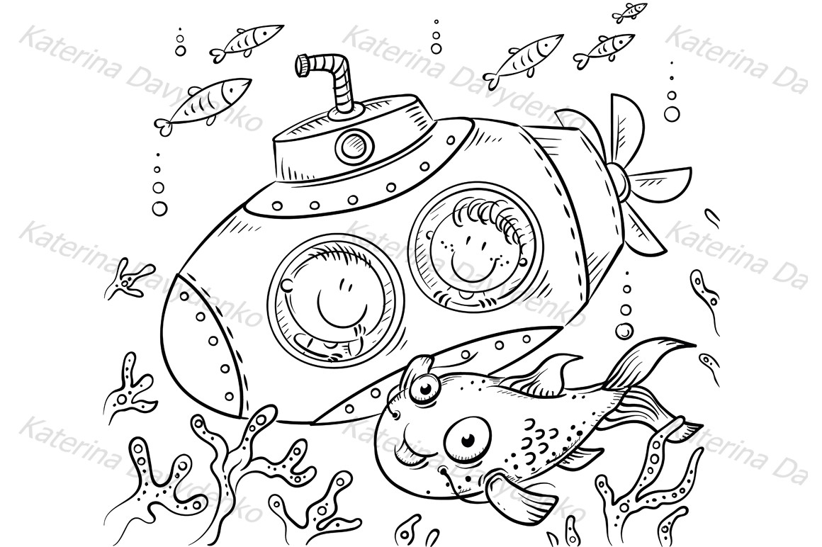 Children in a submarine example image 2