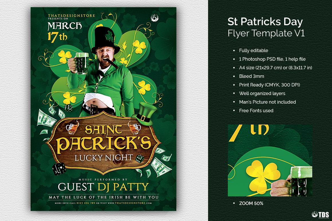 Saint Patricks Day Flyer Template V1 example image 1