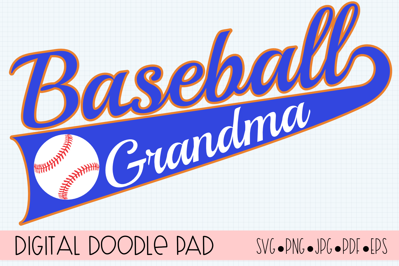 Baseball Grandma SVG | Silhouette and Cricut Cut File example image 1