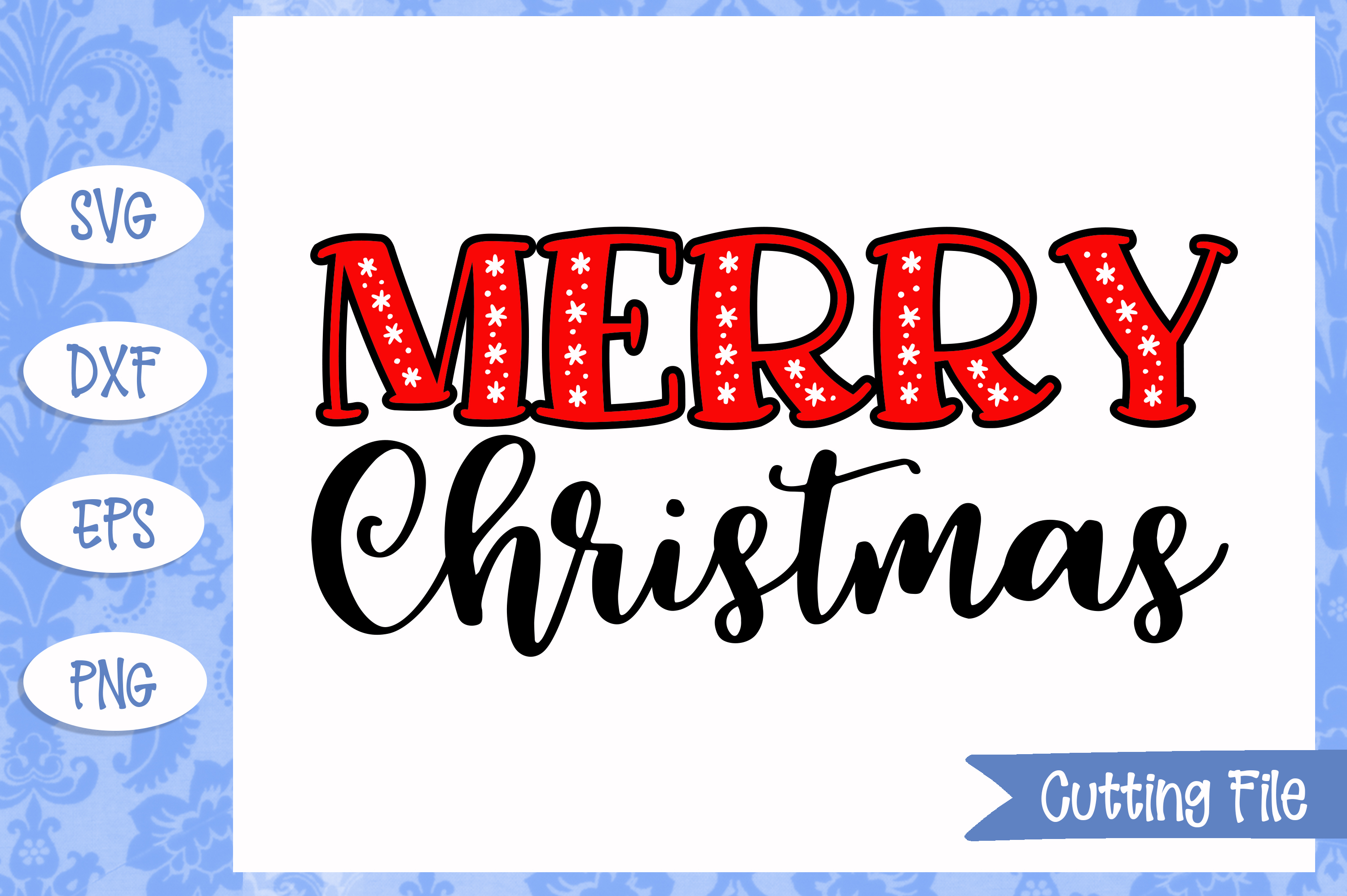 Merry Christmas cut File example image 1