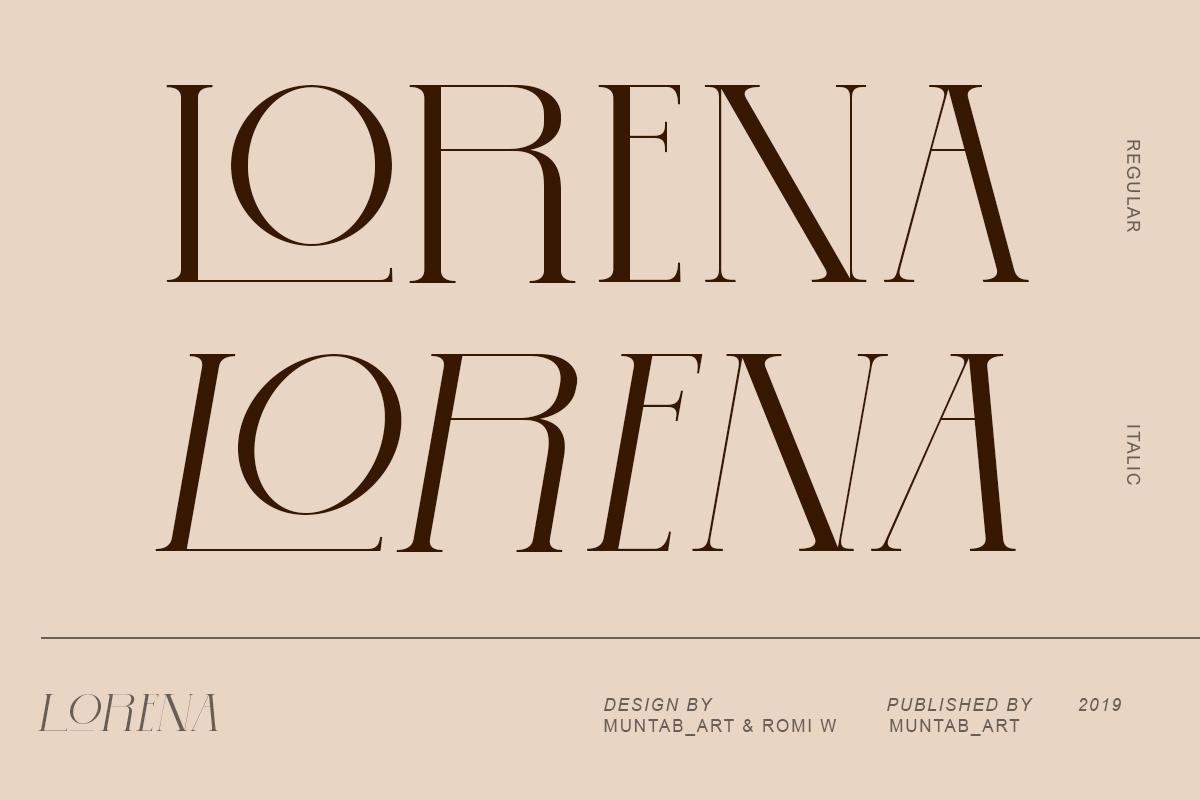 Lorena | Modern Serif Font example image 8