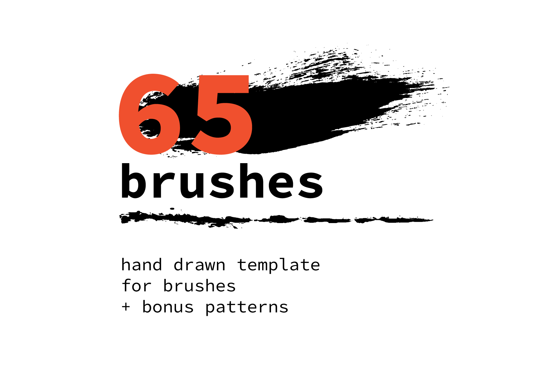 65 template for brushes + 6 seamless patterns example image 1