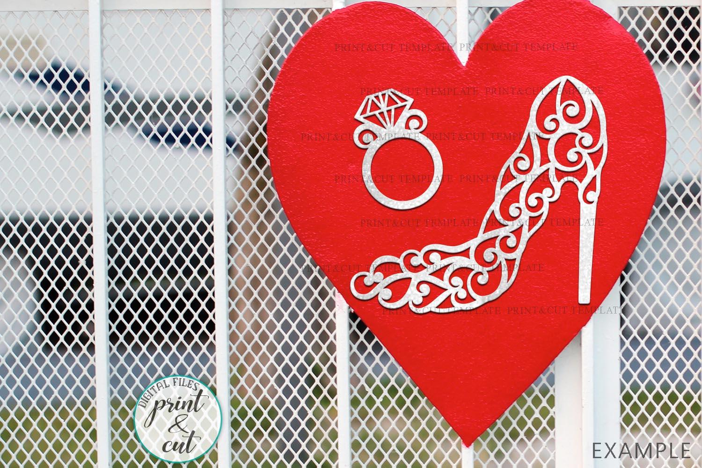 Wedding Princess Bride Bundle cut out svg dxf templates example image 3