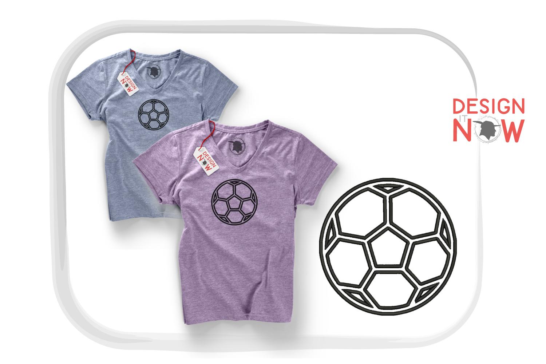 Soccerball Applique Design, Sport Embroidery, Ball Applique example image 7