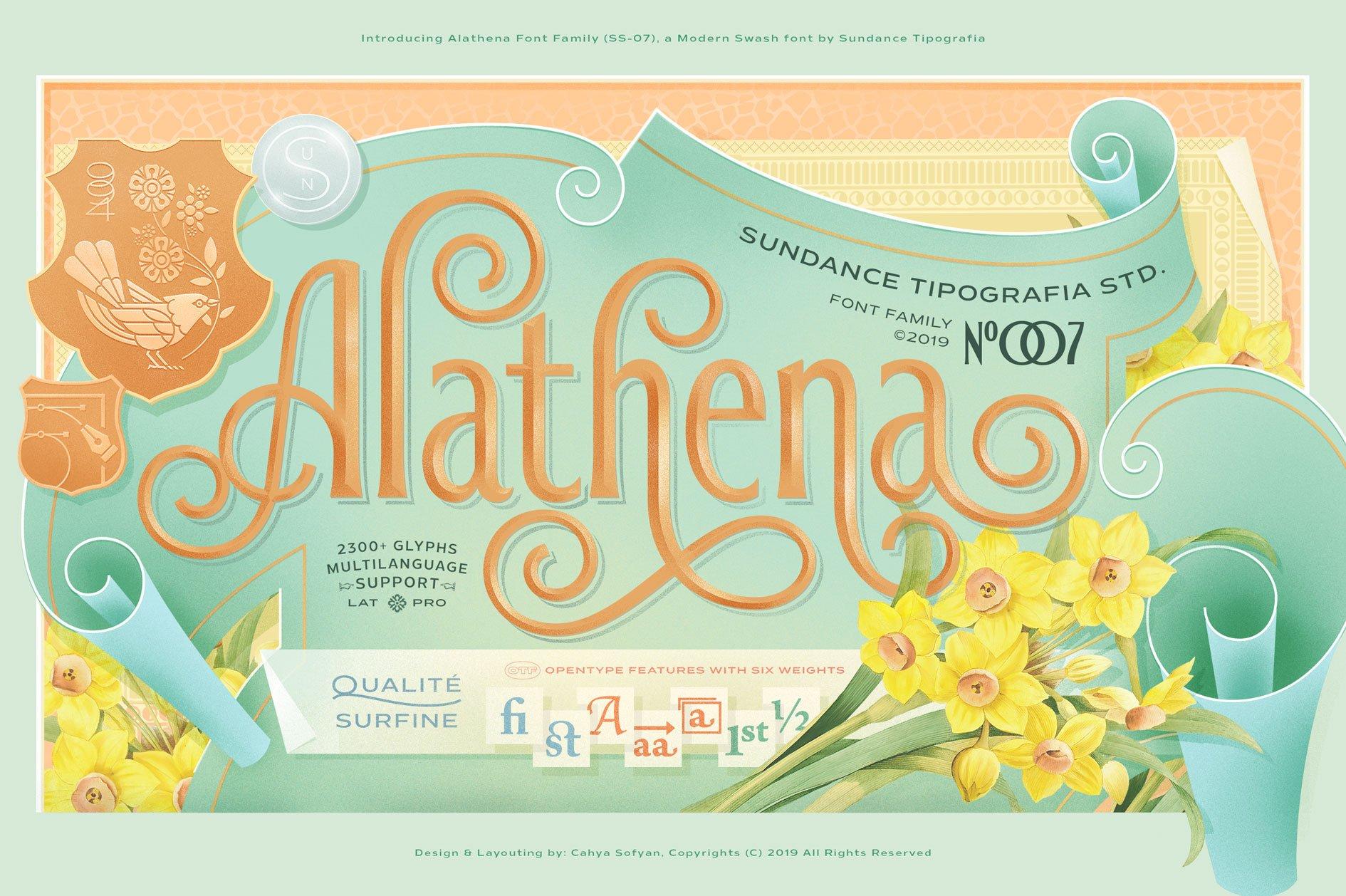 Alathena Font Family example image 2