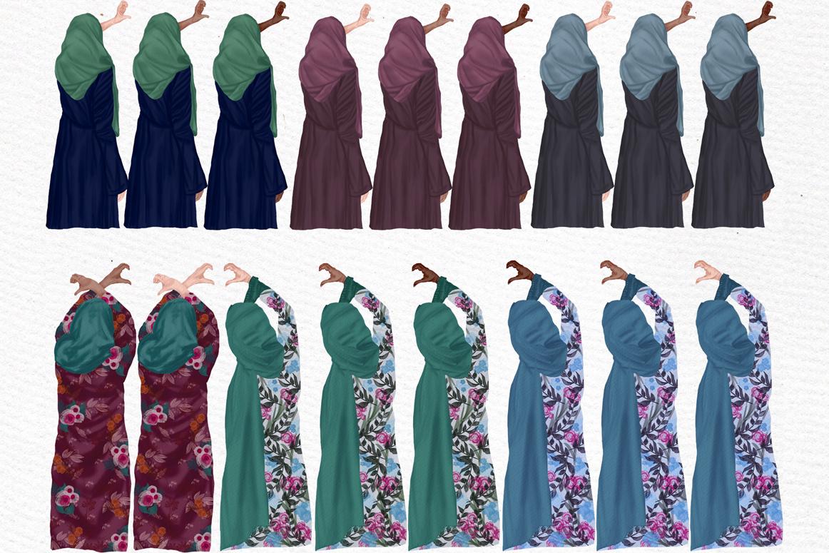 Muslim women clipart, Muslim Girls, Hijab clipart, Besties example image 7