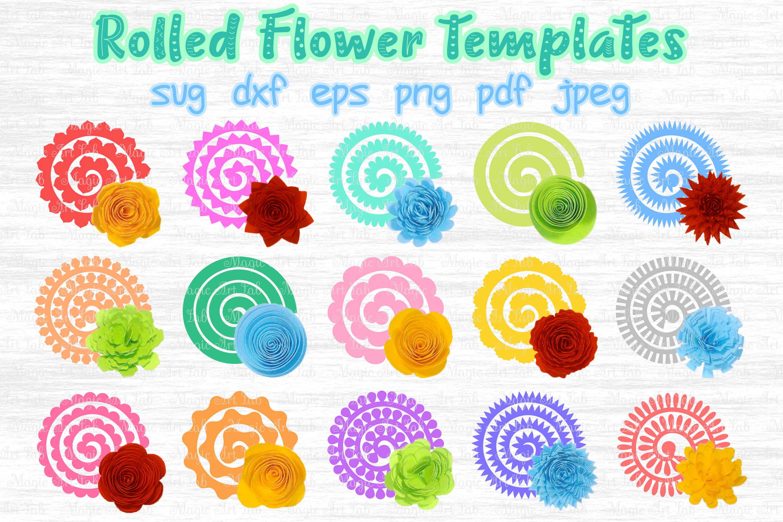 Rolled Flower svg, 3d flower svg, Paper Flower svg example image 1