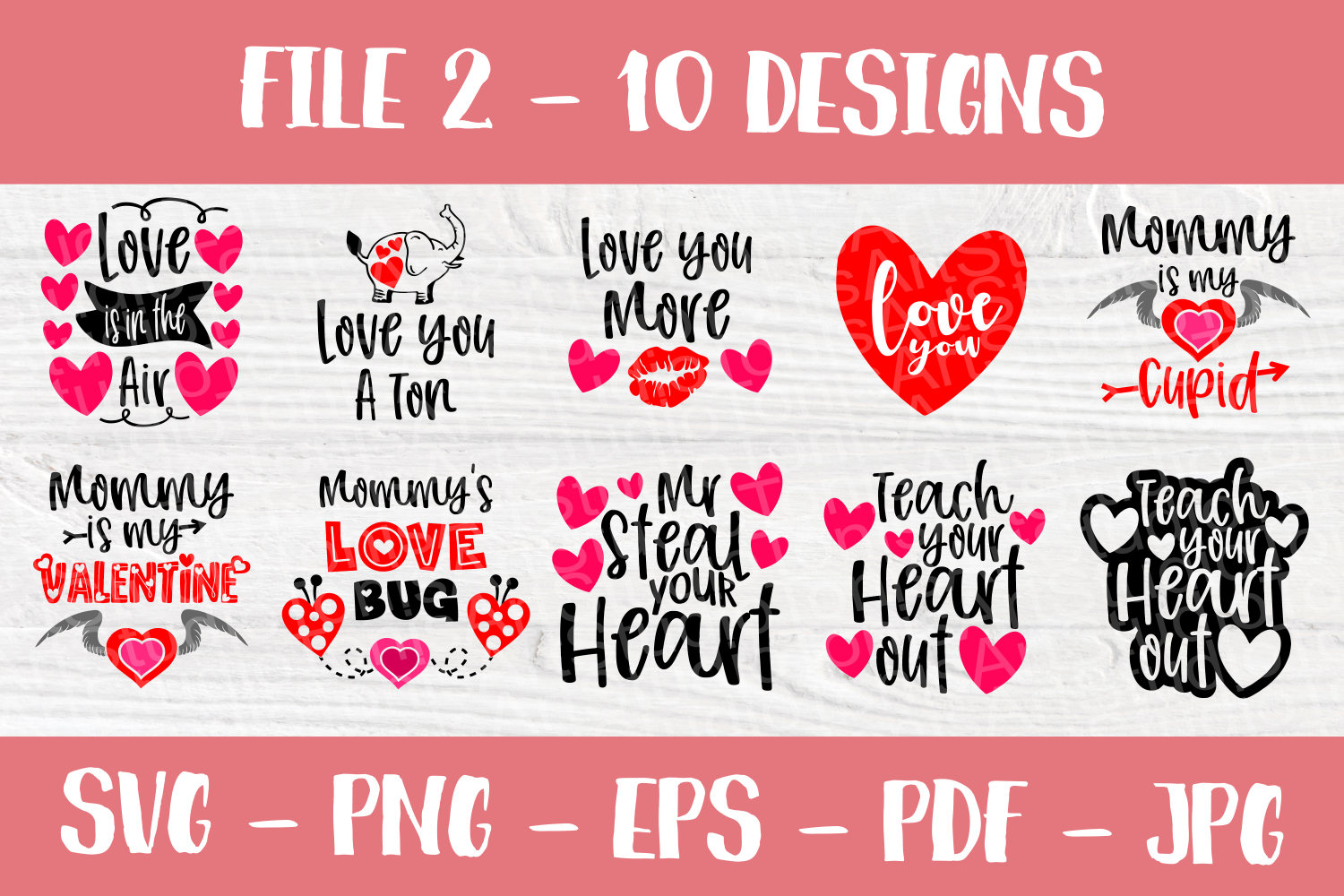 Valentine's Day Quotes | Valentines SVG Bundle| SVG Cut File example image 3