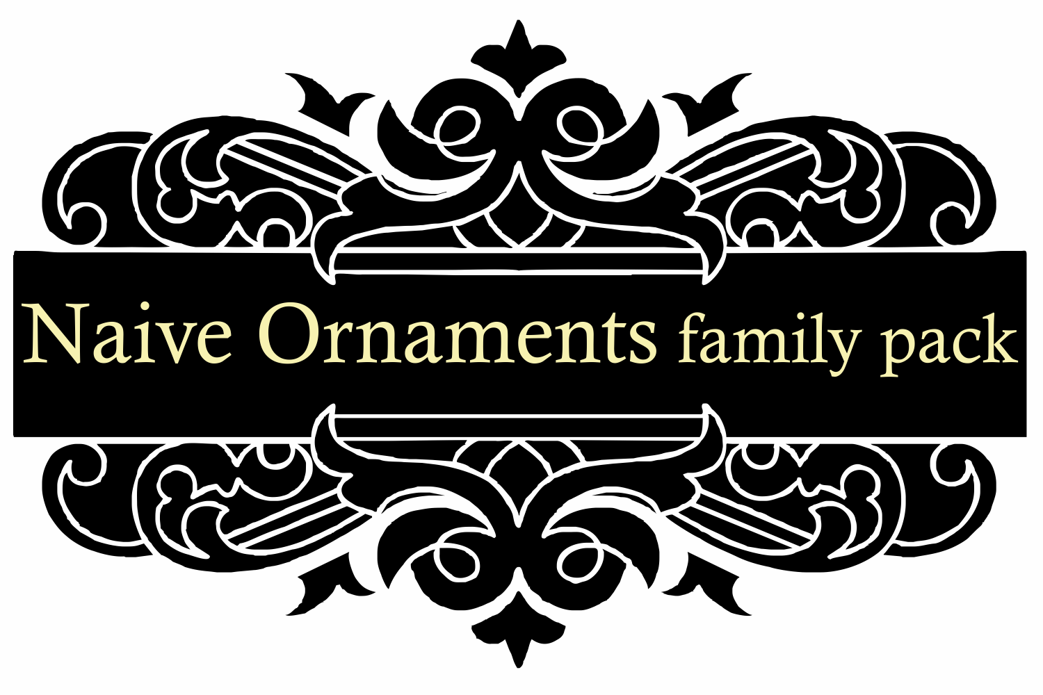Naive Ornaments Family Pack (seven fonts) example image 5