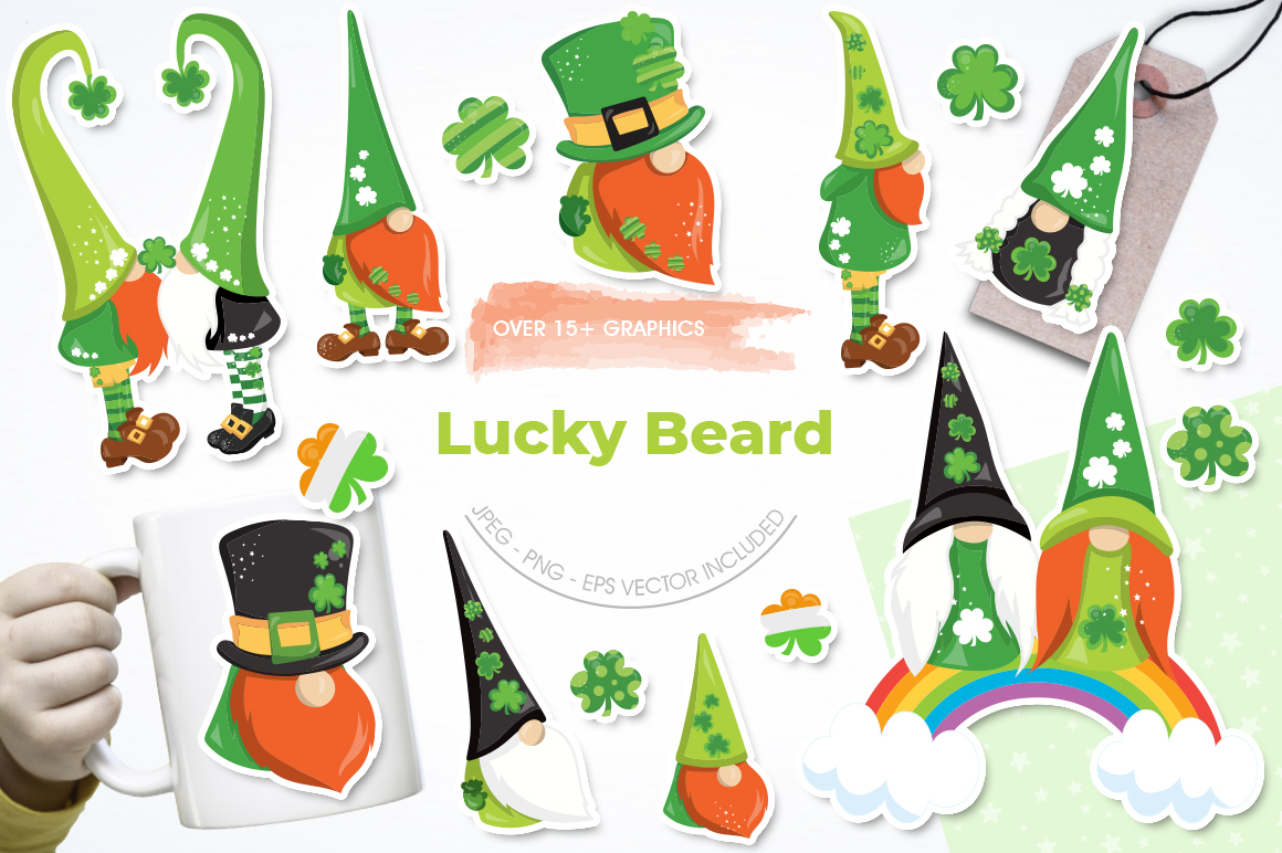 Lucky Gnomes graphic and illustrations example image 1