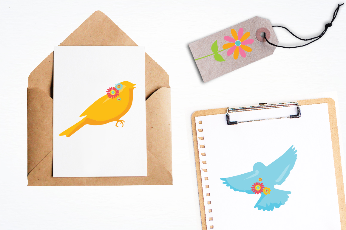 Spring Birds graphics and illustrations example image 4
