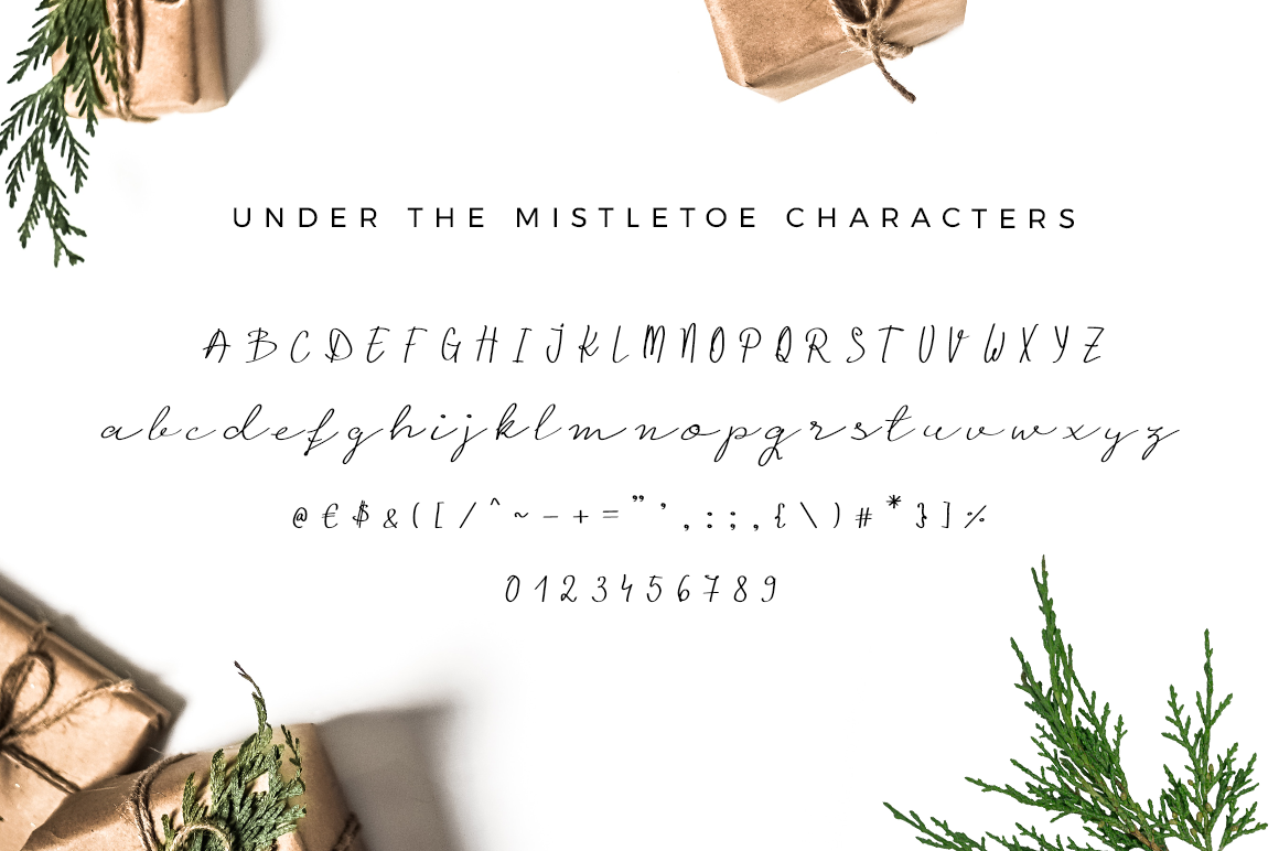 Under the Mistletoe - Handwritten Script Font example image 5