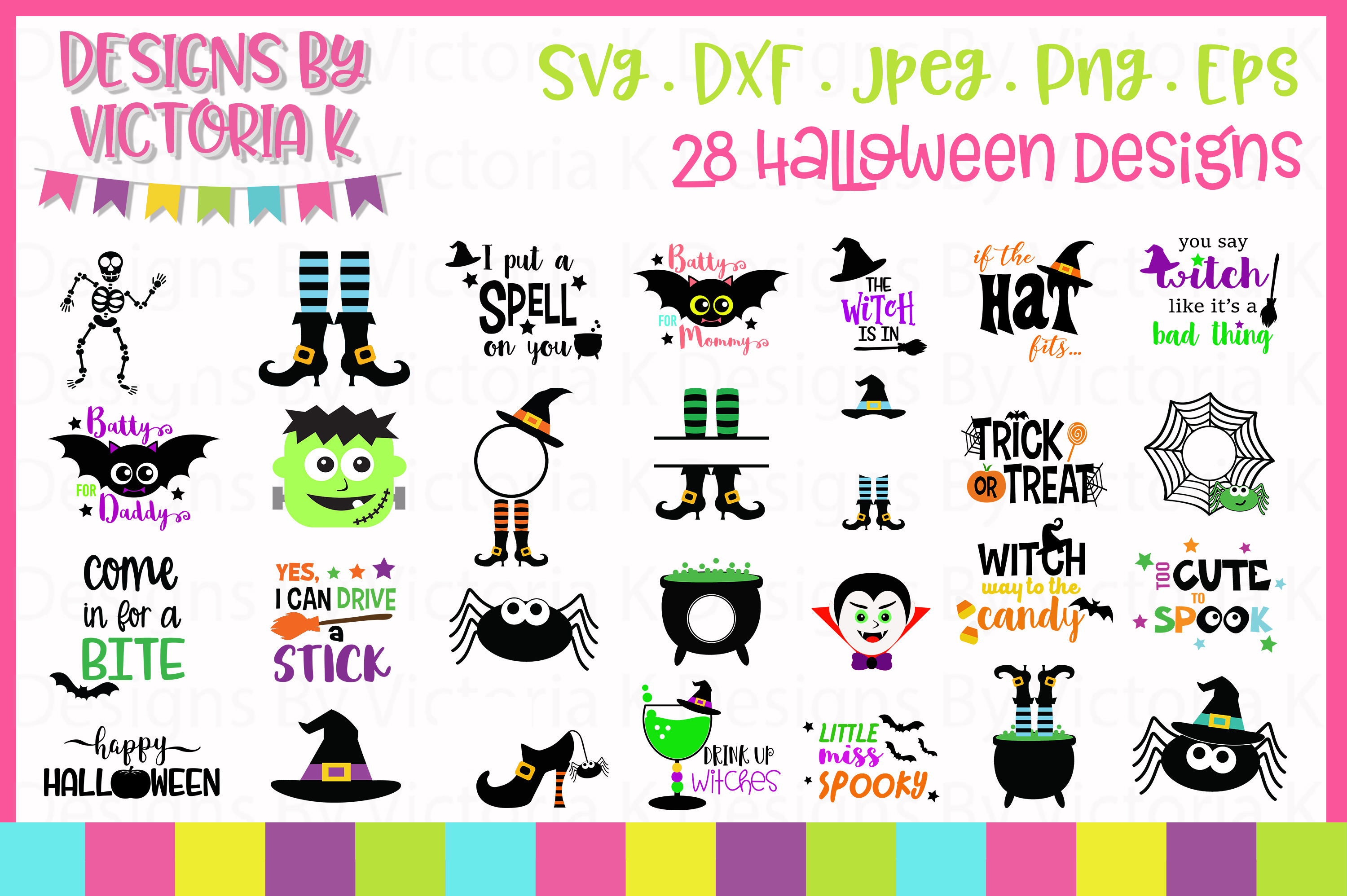 Spooky Halloween Bundle SVG Cut Files example image 1