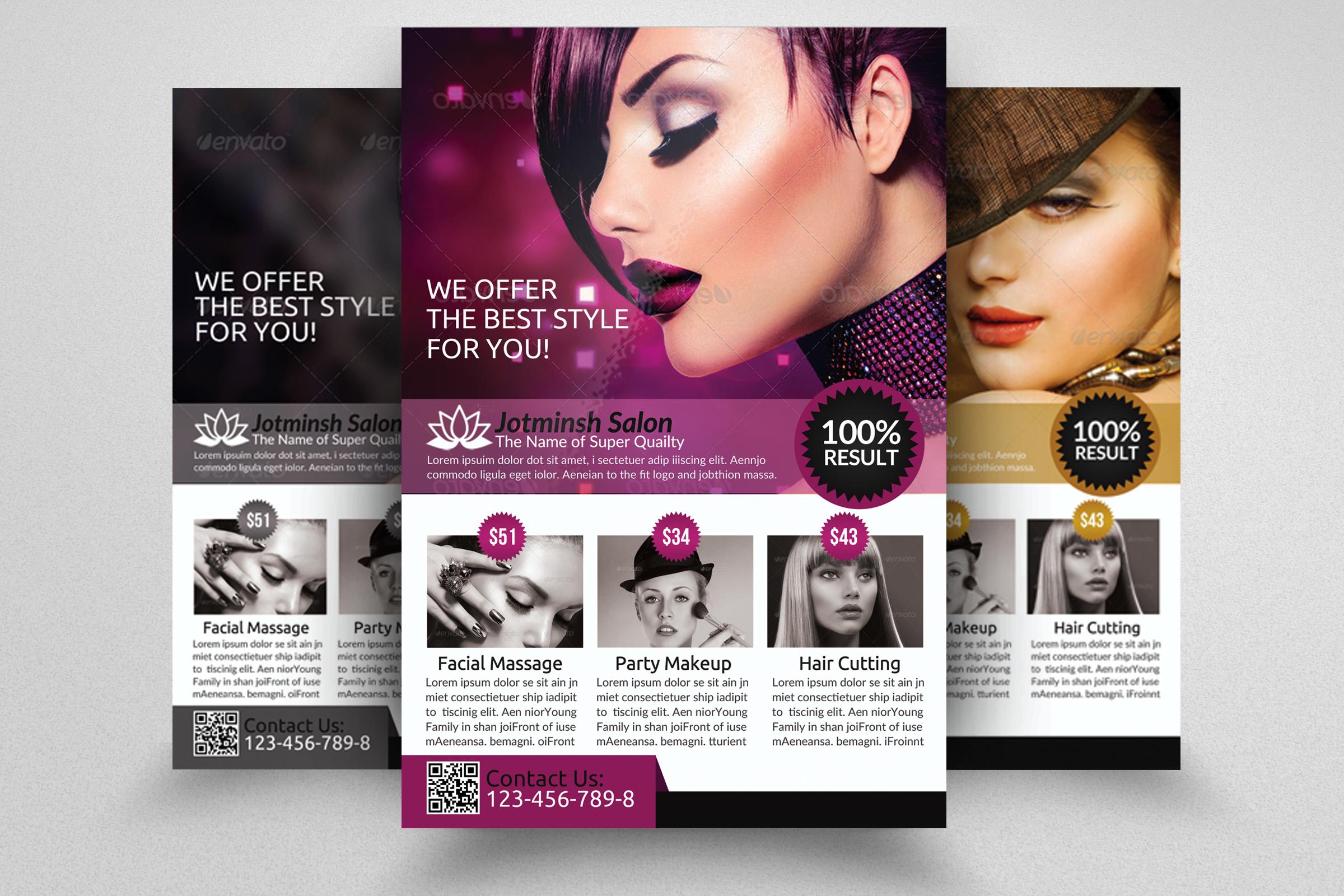 Beauty Salon Flyers example image 1