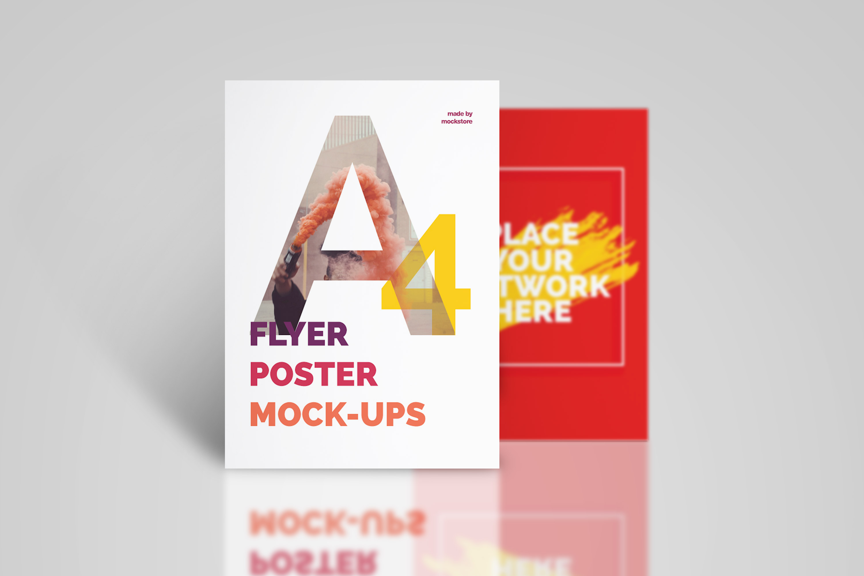 A4 Flyer / Poster Mockups example image 12