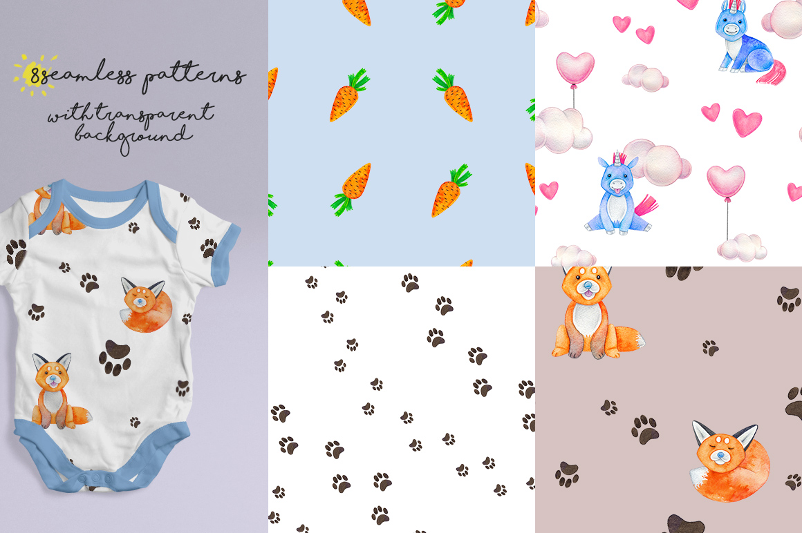 CUTE ANIMALS collection BABY SHOWER example image 5