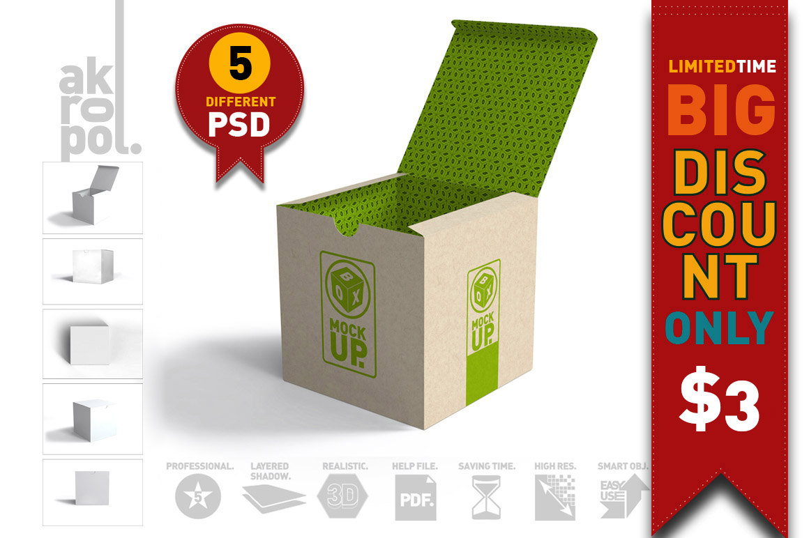 Package Box Mockups example image 4