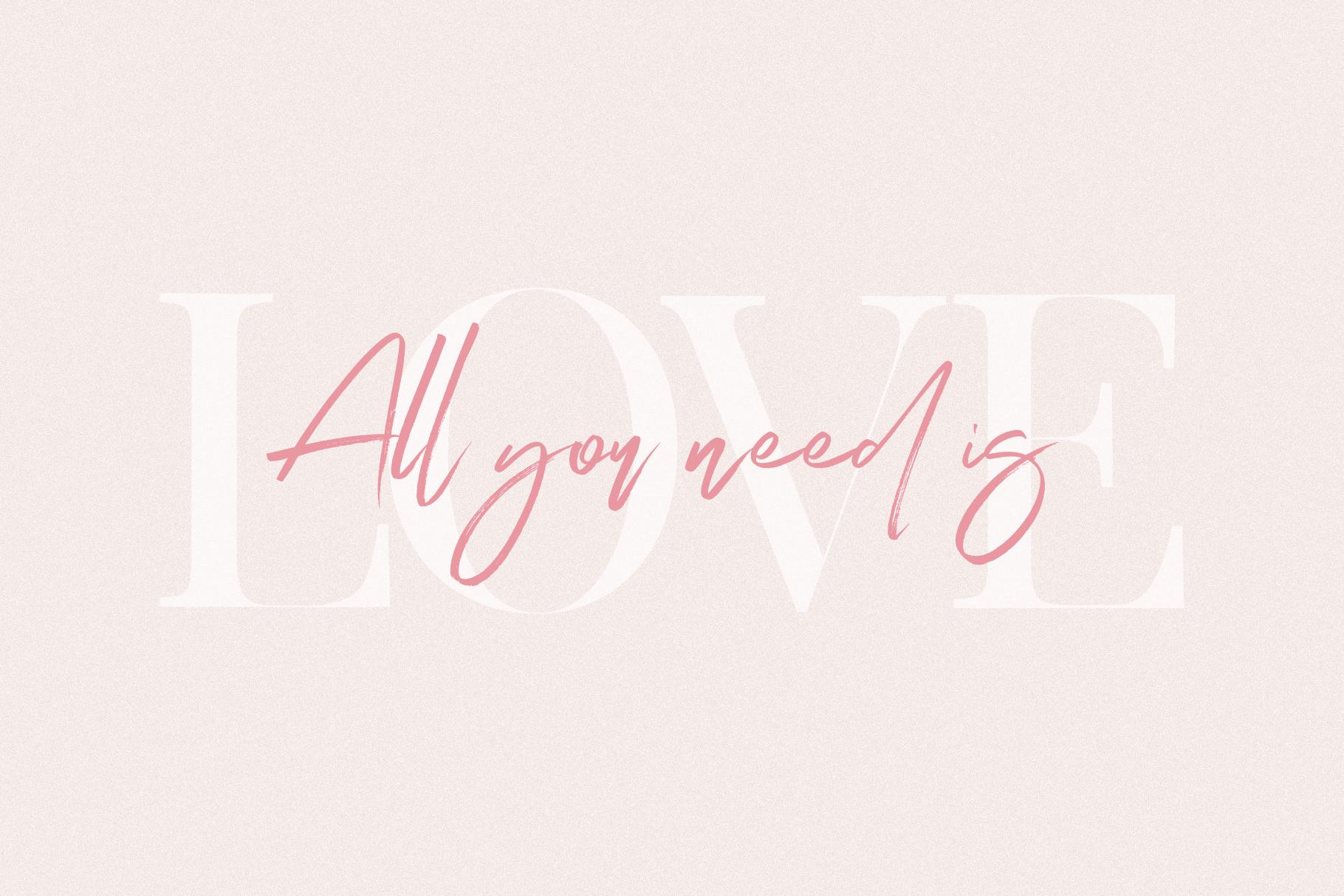 Magic Winter - A Serif/Script Handwritten Font Duo example image 5