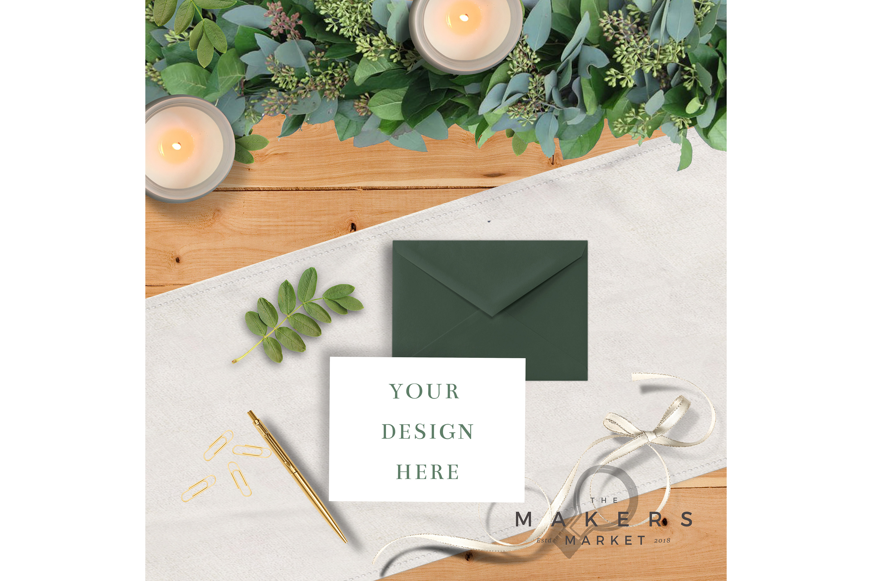 Wedding Mockup/ Wedding Invite Mockup/ RVSP Mockup example image 4