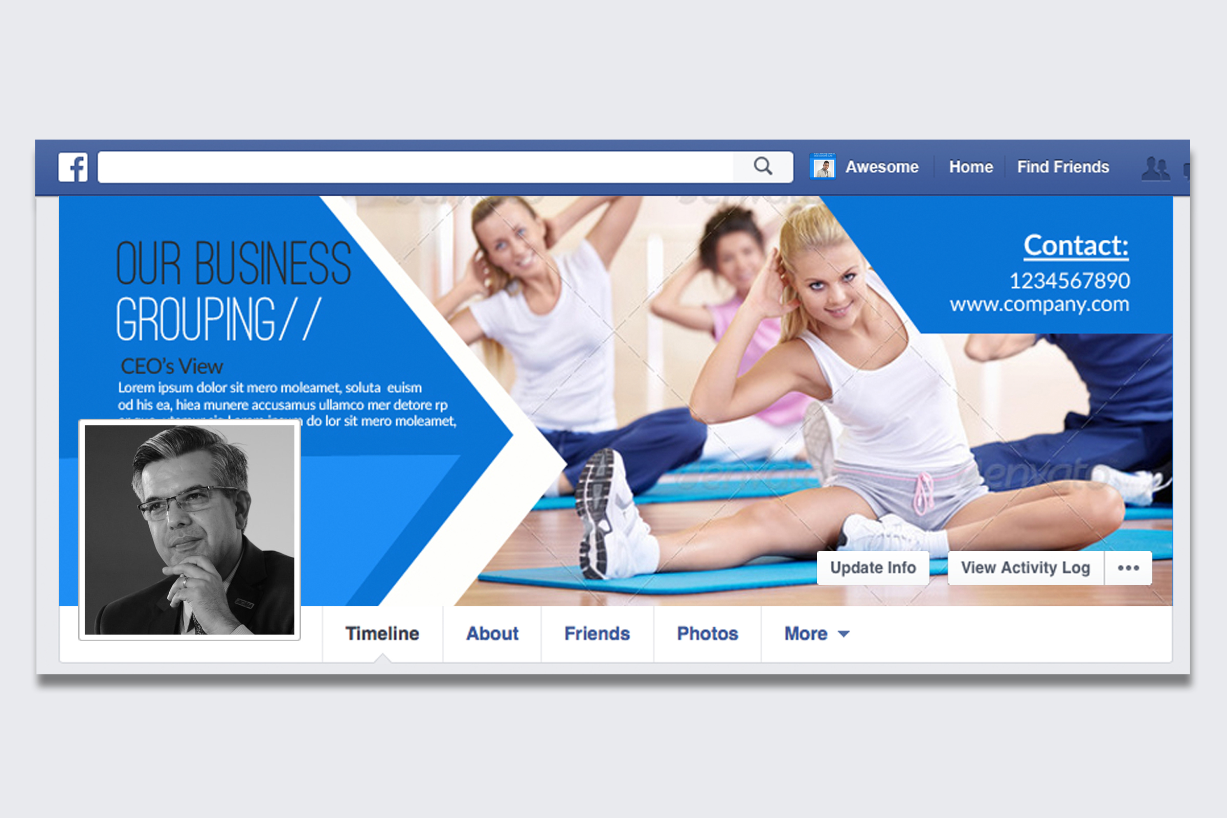 Multi Use Business Facebook Timeline Cover example image 1