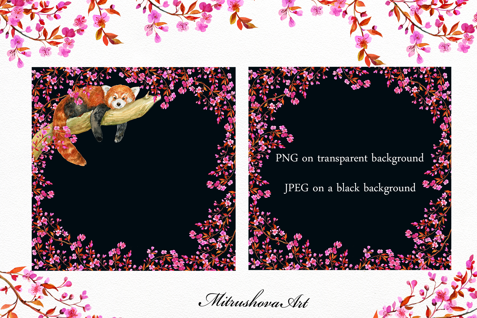 Red Panda ,watercolor illustrations example image 5