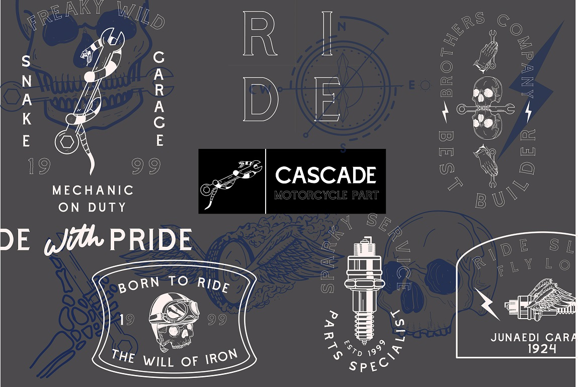 Cascade Motorcycle font example image 2