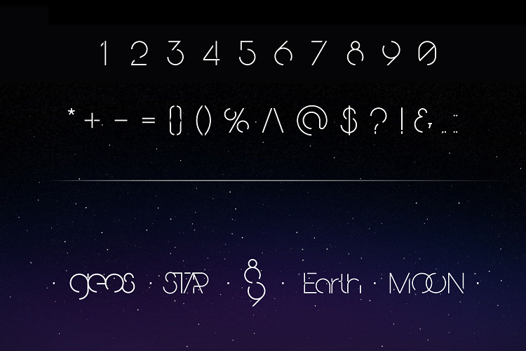 Planetaria Font example image 3