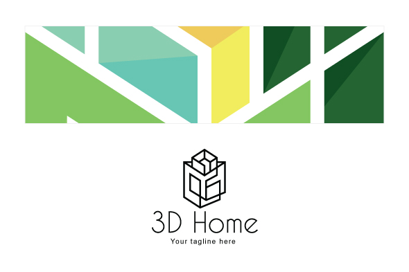 3D Home - Architect Logo Design Template example image 3