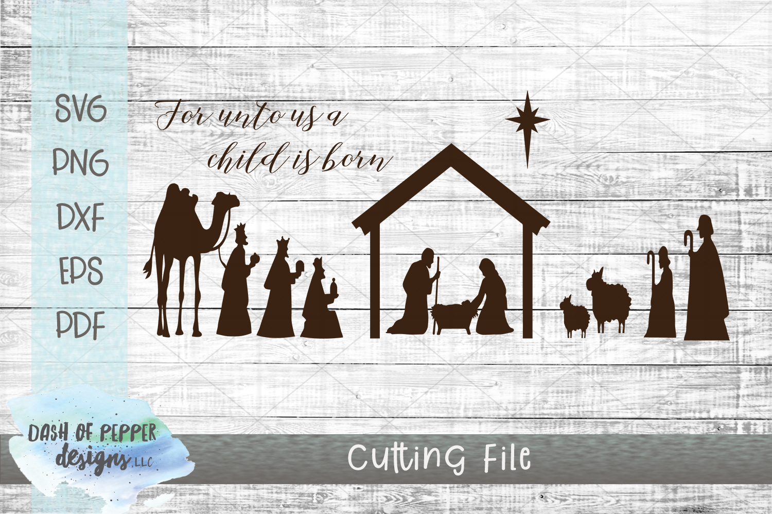 Nativity Scene Svg Manger Svg Religious Christmas Svg