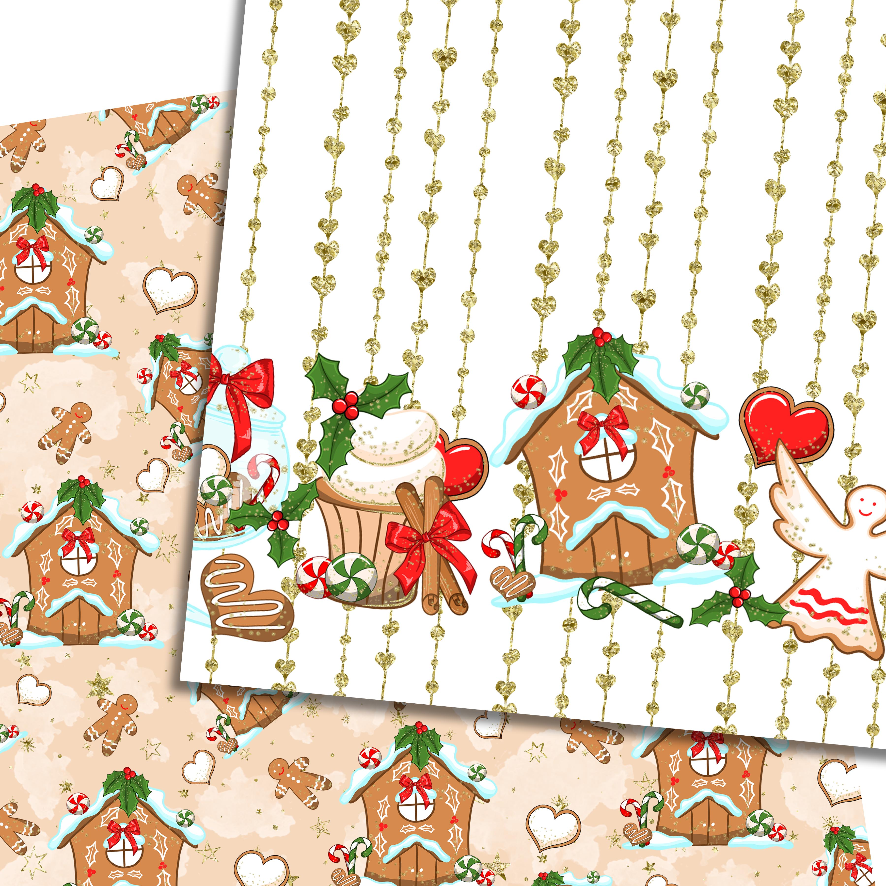 Christmas sweets patterns example image 7