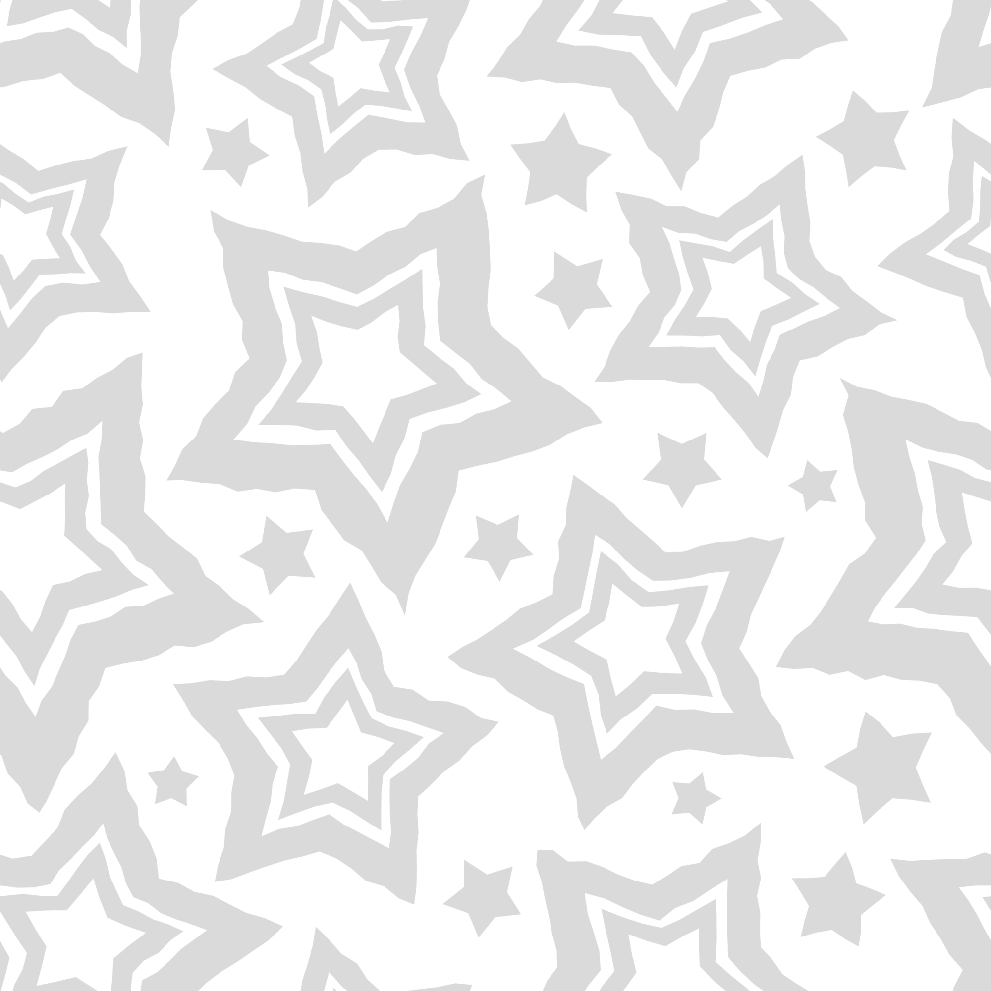 Set of 12 seamless vector backgrounds with decorative stars.  example image 3
