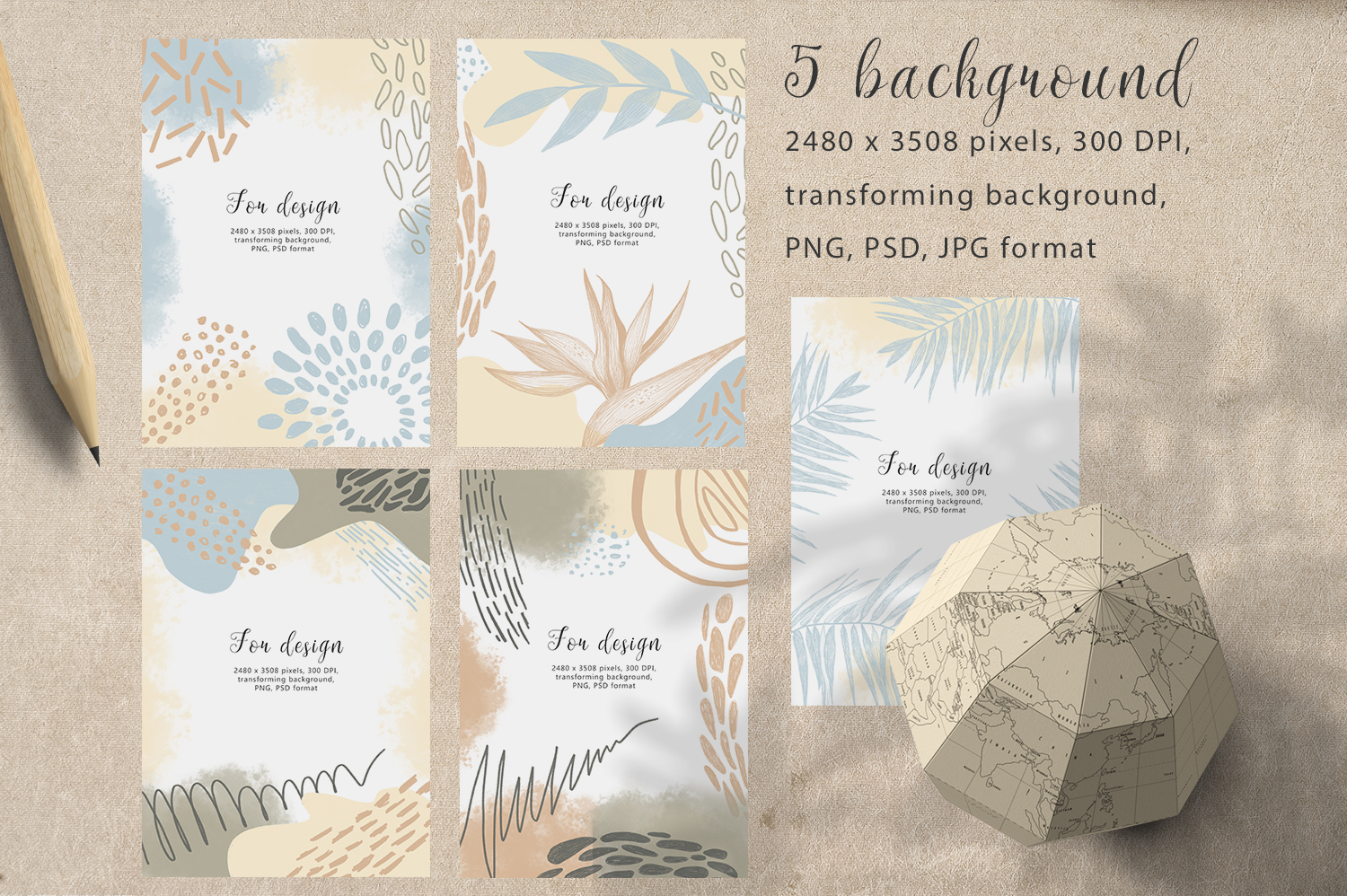 Hand drawn textures collection example image 2