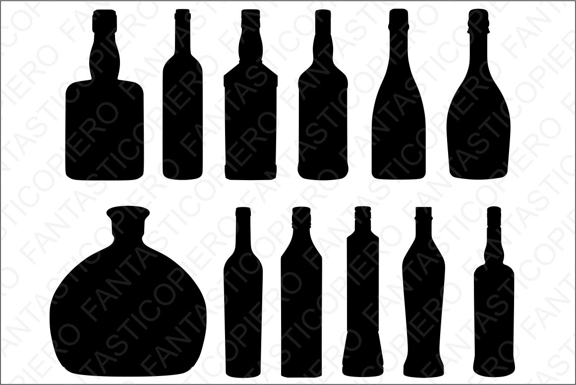 Bottles SVG files for Silhouette and Cricut. example image 2