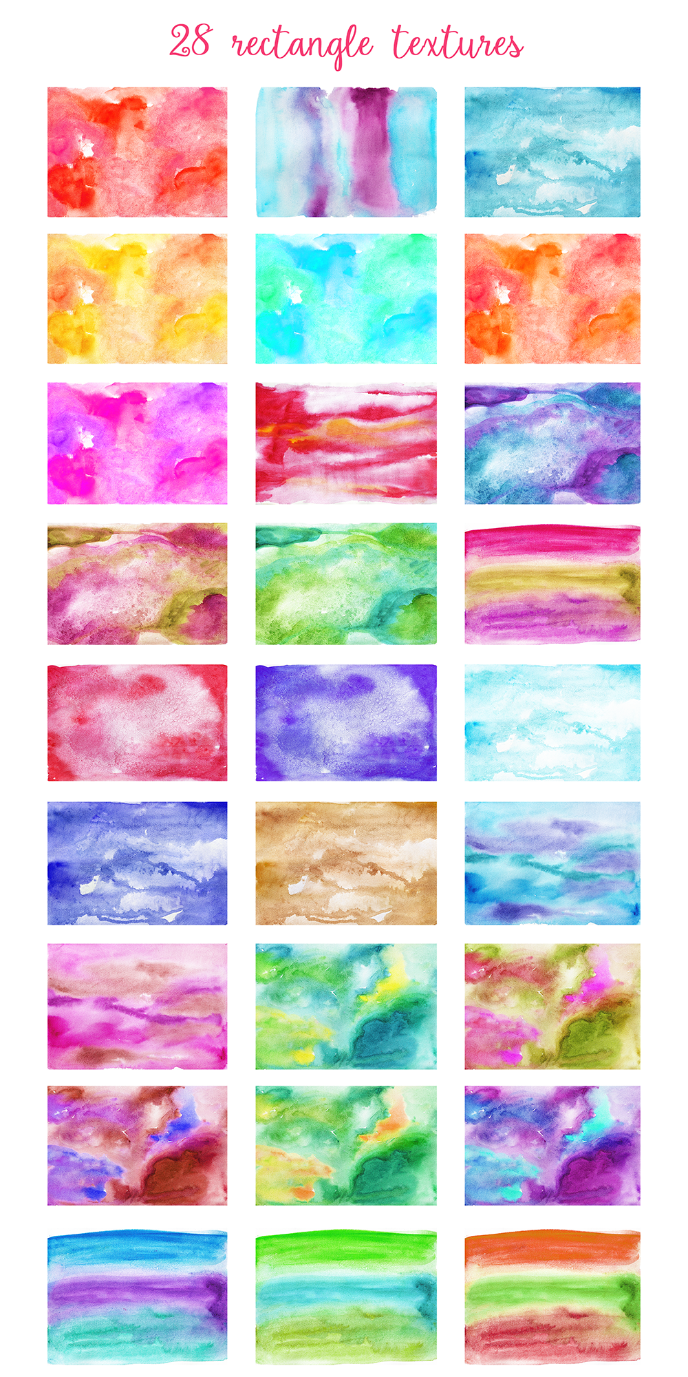 Complet Watercolor Textures Kit example image 3